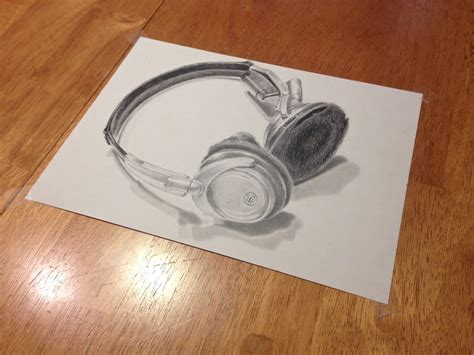 Sketches 3d by 3d Sketch Of Headphones By Browens13 On Deviantart