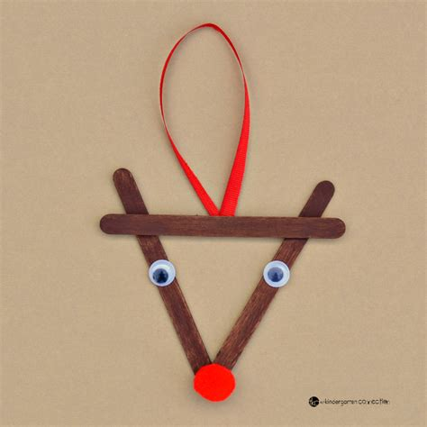 crafts reindeer popsicle stick reindeer kid ornament