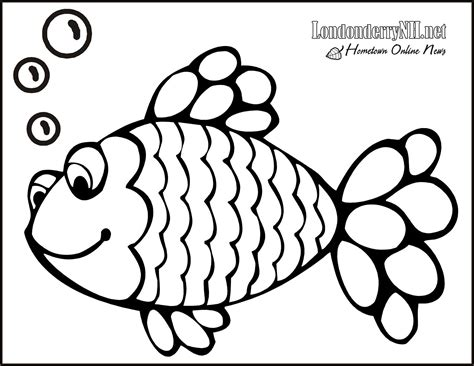 rainbow fish coloring page free large images