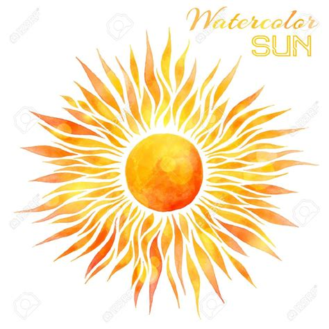 watercolor tattoo sun 43334118 watercolor sun vector illustration