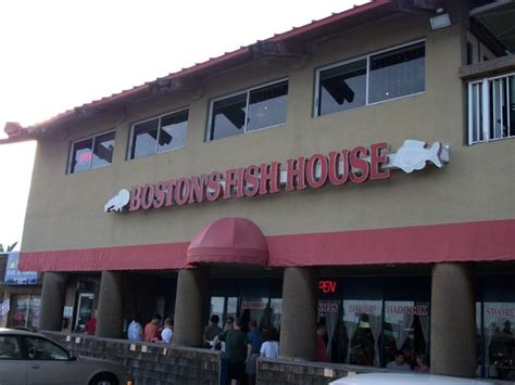 Boston Fish House by Front View At 5 30 Pm Already A Line Picture Of Boston