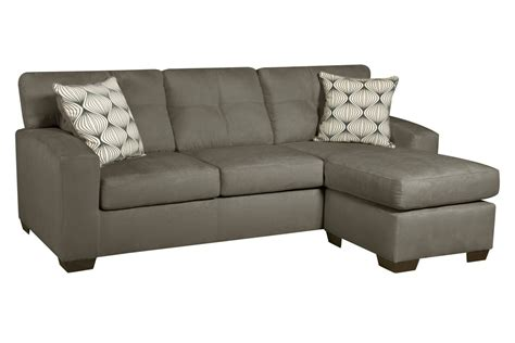 dolphin microfiber sofa with chaise at gardner white