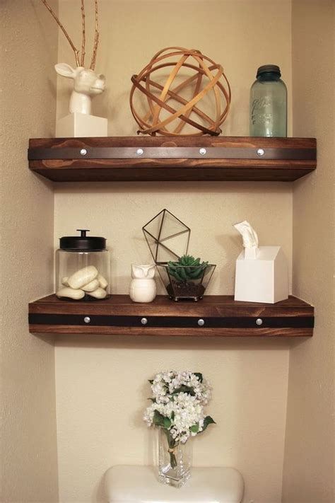 Decorating Ideas For Bathroom Shelves Awesome The Toilet Storage Organization Ideas Listing More