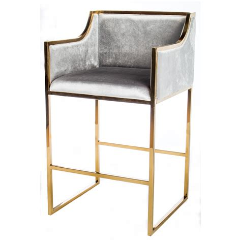 Statements By J Bar Stool by Statements By J Erin Gold Bar Chair Wayfair Ca