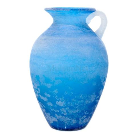 murano glass vase scavo vase blue in murano glass muranonet store