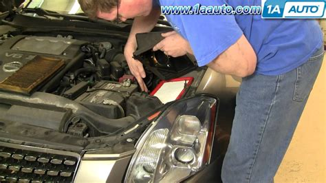 small engine maintenance and repair 2008 nissan maxima on board diagnostic system how to install replace service air filter 04 08 nissan maxima 1aauto com youtube