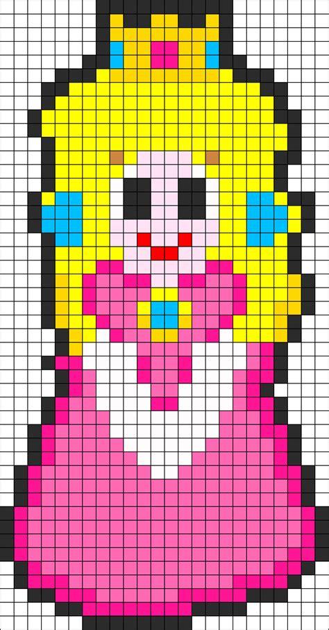 peach pattern png princess peach1 perler bead pattern bead sprites