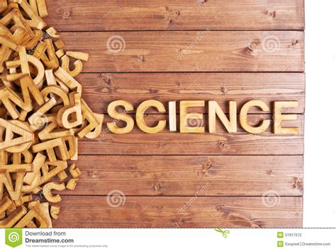 5 Letter Words In Science word science made with wooden letters stock photo image