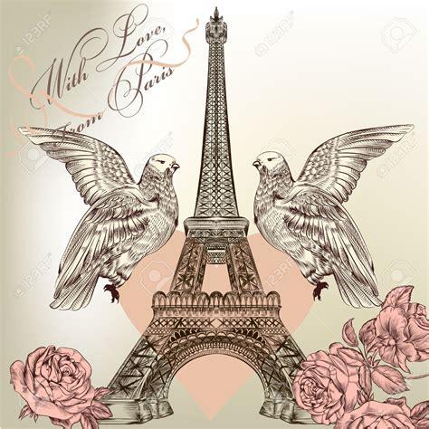imagenes vintage de la torre eiffel torre eiffel dibujo romantico buscar con google torre
