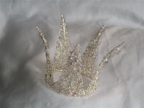 Handmade Crown - handmade swarovski twisted wire crown by helencurtistiaras