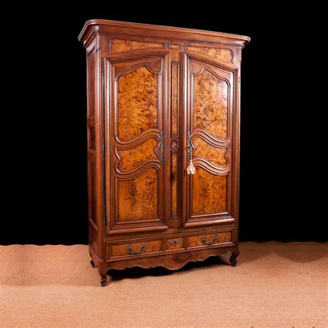 armoire in french french armoire in walnut with burled panels c 1750