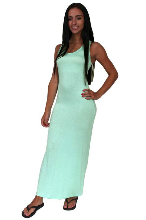 Maxi Khafali Mint St s juniors mint rayon lenght sleeveless maxi dress racerback ebay