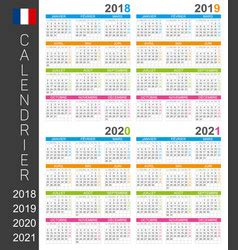 simple calendar   year  french language vector image