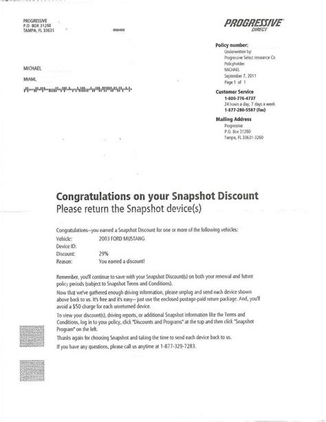 Progressive Insurance Letterhead Progressive Snapshot Saved Me 50 On Auto Insurance