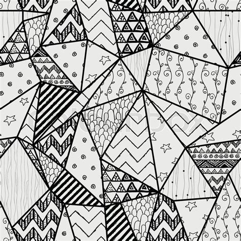 pattern drawing black black and white geometric hand drawn abstract seamless