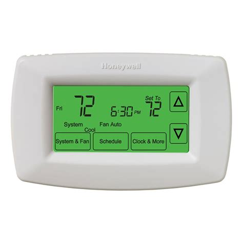 Honeywell 7 Day Programmable Touchscreen Thermostat RTH7600D   The Home Depot