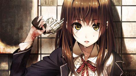 wallpaper anime girl with gun sad anime girl with gun wallpaper by aighix on deviantart
