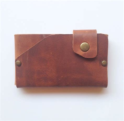 Origami Leather Wallet - cherry brown leather origami wallet