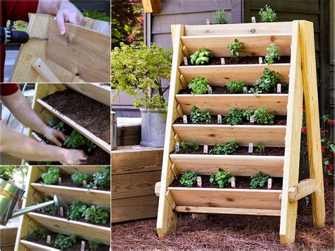 Diy Herb Garden Planter by Diy Vertical Garden For Small Spaces
