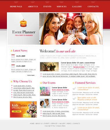 Website Template Event Planners And Planners On Pinterest Event Website Template