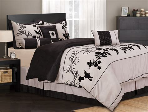 black and beige comforter set 7 piece king rene black and beige bedding comforter set ebay