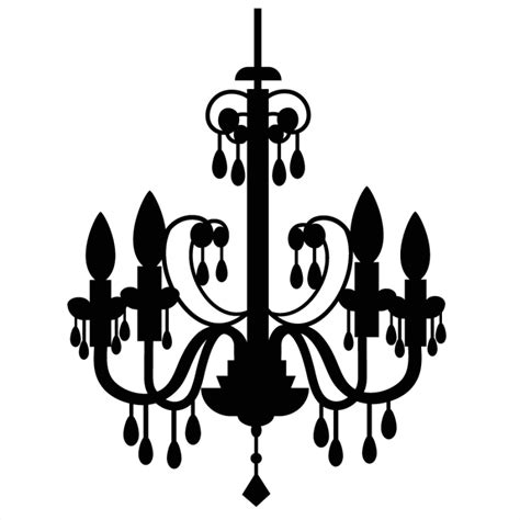 chandelier clip the gallery for gt chandelier silhouette png
