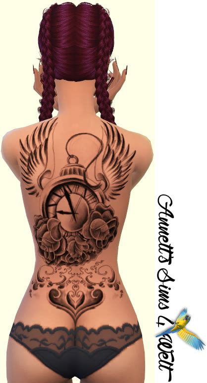 sims 4 tattoos annett s sims 4 welt back tattoos for