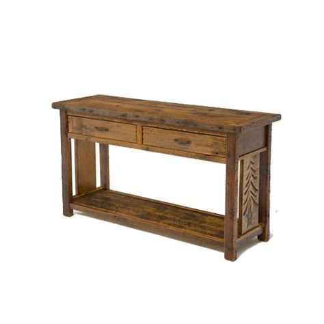 Sequoia Console Table by Sequoia Sofa Table Rustic Log Reclaimed Industrial