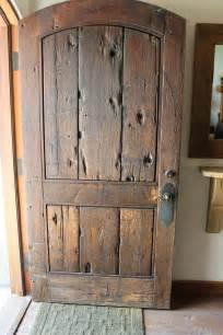 rustic front doors on