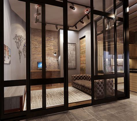 office interior glass walls home decor interior exterior converted industrial spaces becomes gorgeous apartments