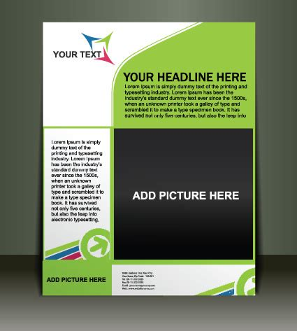 design templates free download vector template presentation of flyer design free vector