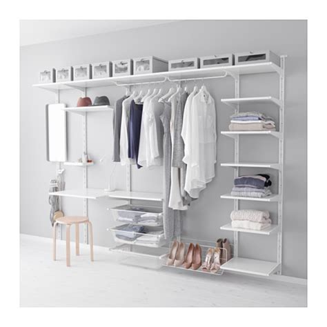 Clothes Storage Systems In Bedrooms Algot Wall Upright Shelf Hook Ikea