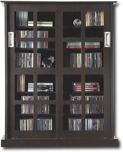 atlantic windowpane multimedia cabinet espresso atlantic windowpane 432 cd 192 dvd media storage cabinet