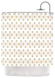 Gold Polka Dot Curtains Pellerina Design Quot Linen Polka Stripes Quot Gold Dots Shower Curtain Contemporary Shower Curtains