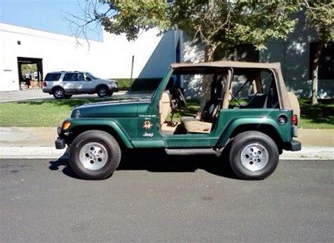 1999 jeep wrangler rubicon purchase used 1999 jeep wrangler edition tj