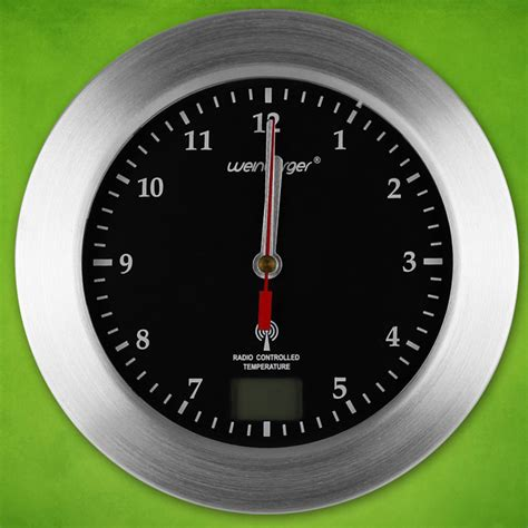 Badezimmer Funkuhr by Funkuhr Thermometer Wanduhr Funkwanduhr Funk Uhr