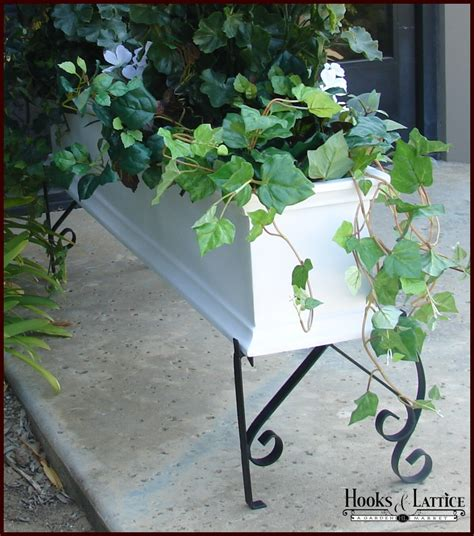 window box stand 48 quot l x 18 quot h scroll stand