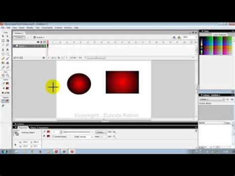 tutorial kuis flash 8 macromedia flash 8 tutorial 1 youtube
