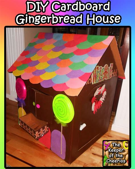 How To Make A Gingerbread House Out Of Paper - cardboard gingerbread playhouse diy