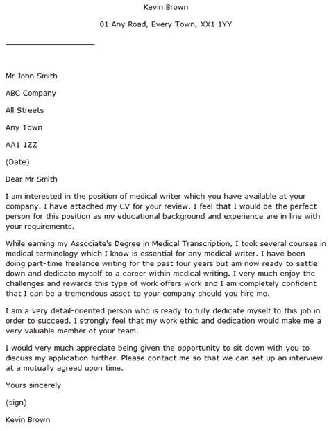 medical writer cover letter learnistorg