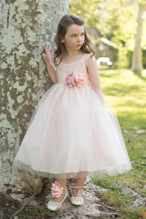 Dress Flower Princess blush tulle gown princess flower dress for wedding lunss couture