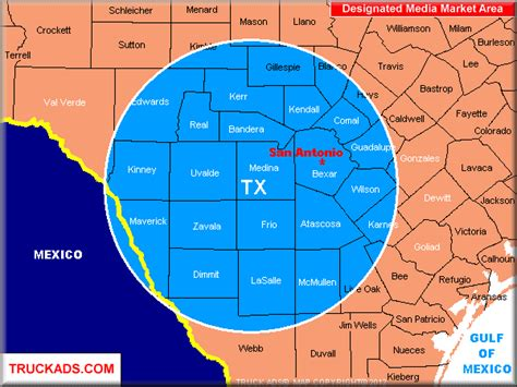 texas dma map san antonio dma map