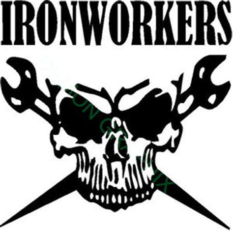 ironworker skull vinyl decal sticker 5x5 ironworker rigger
