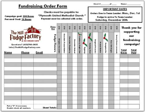 fundraising meter template fundraising order form templates template business