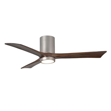 hugger 52 in brushed nickel ceiling fan 245ir3hlk bn 52