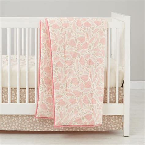 Organic Baby Crib Sets Forest Themed Baby Bedding Pink The Land Of Nod