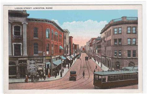 St S Detox Lewiston Maine by Lisbon Streetcar Lewiston Maine 1920c Postcard Ebay