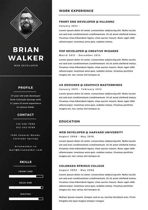Plantillas De Curriculum Illustrator Plantilla De Curriculum Vitae Gratis Para Photoshop Illustrator Y Word Iborra Web Design