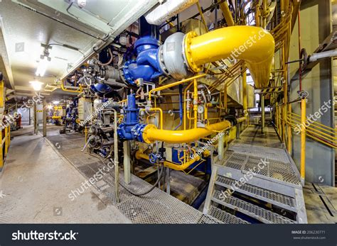 What Industry Is Plumbing by Chemical Industry Plant With Pipes And Valves Stock Photo