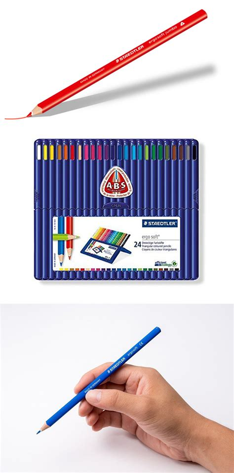 staedtler ergosoft colored pencils staedtler 174 ergosoft coloured pencils 24 assorted colours